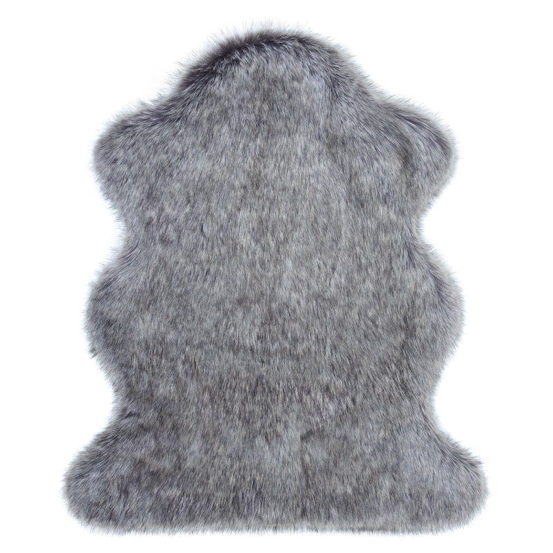 Lady Grey Faux Fur Animal Skin by Helen Moore