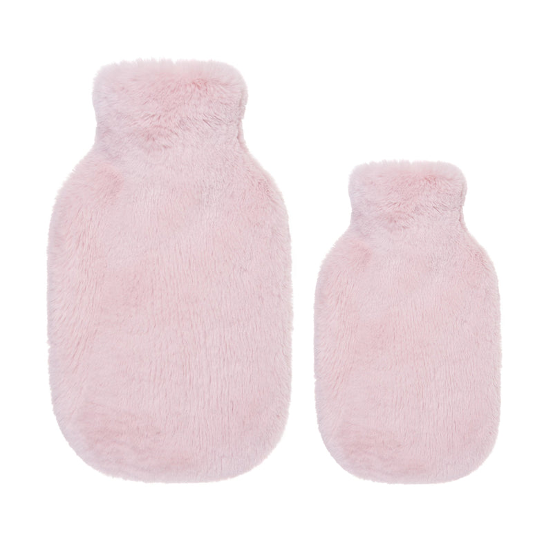 Light pink faux fur hot water bottles- Available in 2 Sizes by Helen Moore