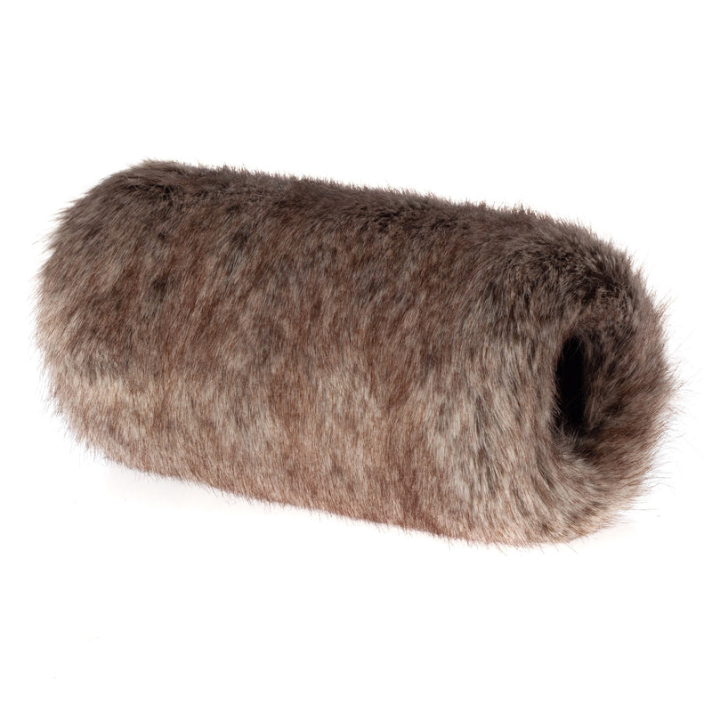 children's light brown Truffle faux fur hand muff by Helen Moore