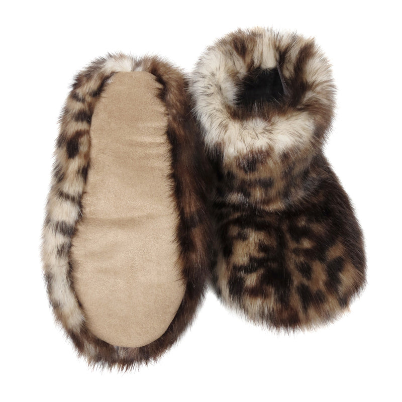 Lynx Faux fur Slipper Boots by Helen Moore