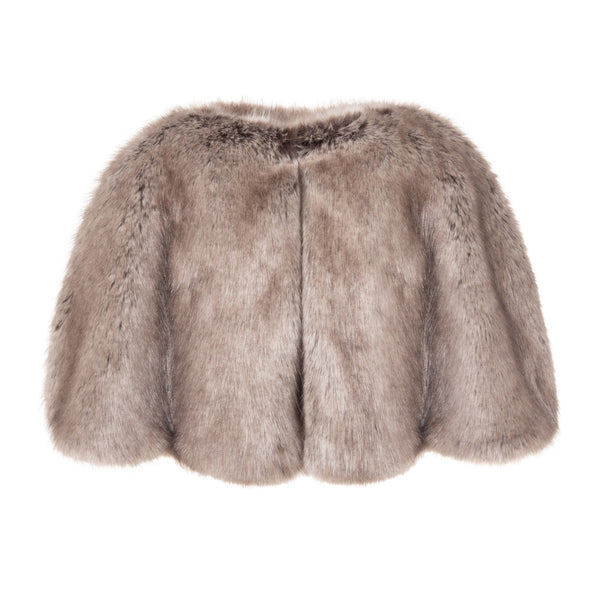 Ermine Faux fur cape by Helen Moore
