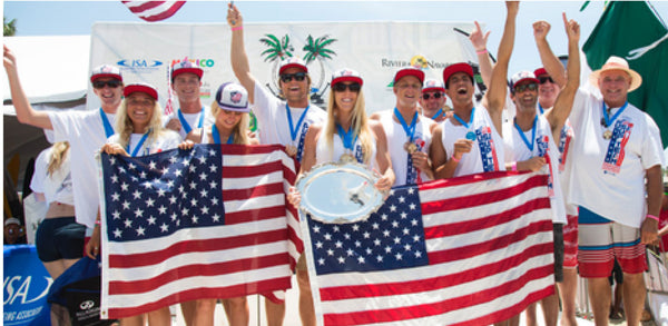 Team USA & Team Hawaii Medal at ISA Worlds