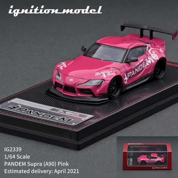 Pre Order Ignition Model 1:64 Scale Pandem Supra (A90) Pink