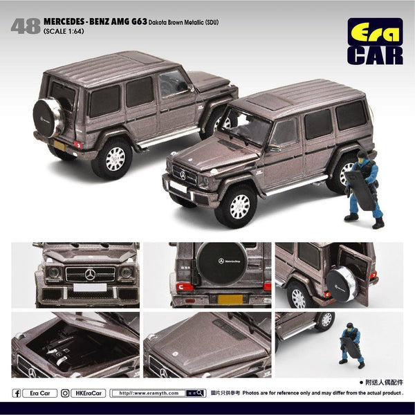 Era Car #48 Mercedes-Benz G63 AMG Scale 1:64 Dakota Brown Metallic with SWAT