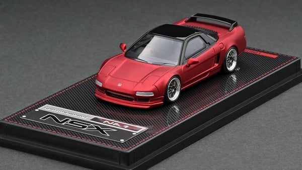 Ignition Model 1:64 Scale Honda NSX NA1Matte Red Metallic