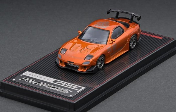 Ignition Model 1:64 Scale Mazda RX7 FD3S RE Amemiya Orange