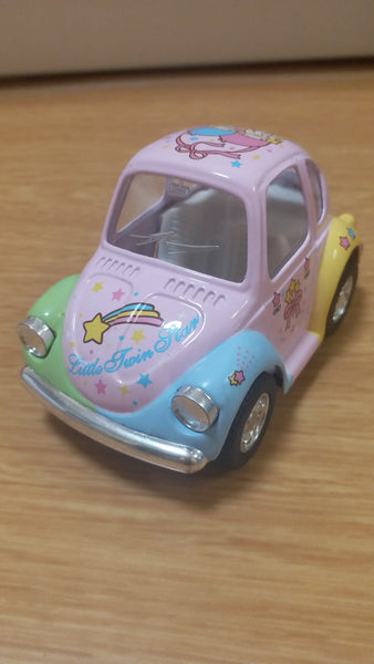 SANRIO LITTLE TWIN STAR  BEETLE CAR(Pink) (2003)(Kintoy)
