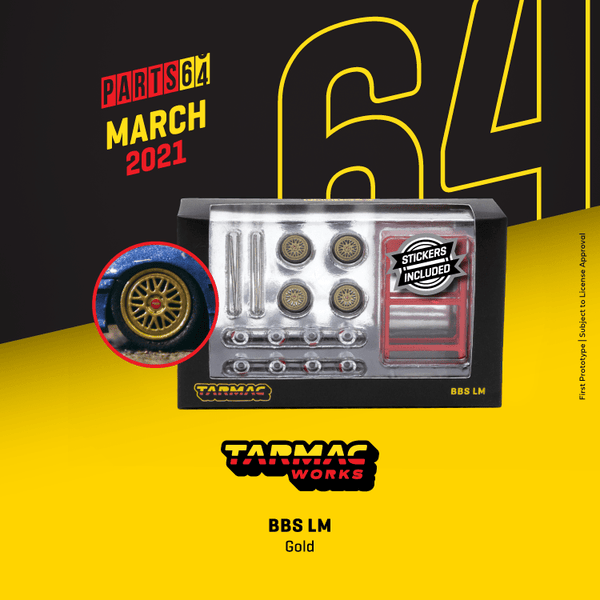 Tarmac Works BBS LM Gold 1:64 SCALE