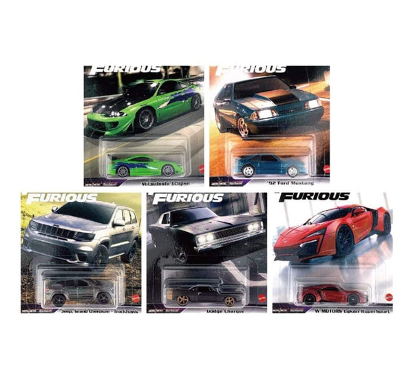 Hot Wheels Car Culture Fast and Furious Set of 5 L Case 2021