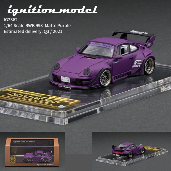 Ignition Model 1:64 Scale RWB Porsche 993 Purple Resin