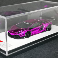 JEC LB Lamborghini Aventador Chrome Purple Resin 1:64 Scale