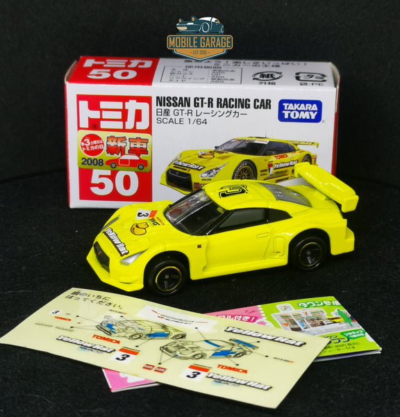 Tomica #50 Nissan GT-R Racing Car Yellow Hat