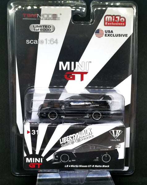 Mini GT #31 LB Works Nissan GT-R Matte Black Mijo Exclusive