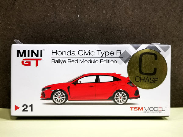 [Chase]Mini GT #21 Honda CIVIC Type R FK8 Rallye Red Modulo Edition