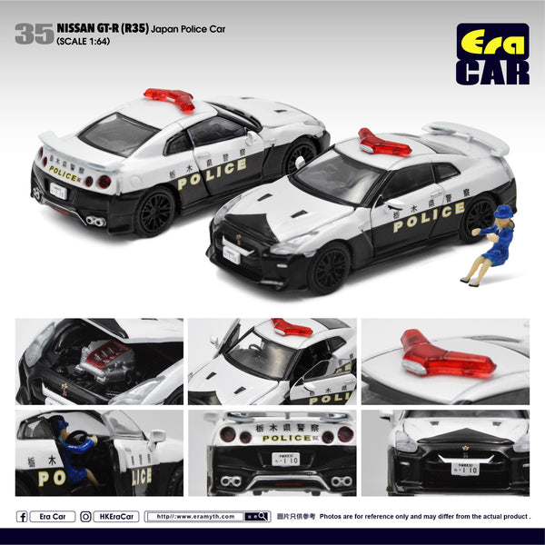 ERA Car #35 Nissan GT-R(R35) Japan Police Car Scale 1:64