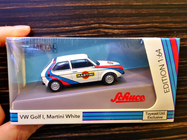 Schuco 1:64 Scale Volkswagen Golf Mk I Martini Hong Kong Exclusive