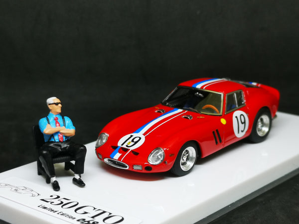 JEC Resin 1:64 Ferrari 250 GTO with Enzo Ferrari mini figure