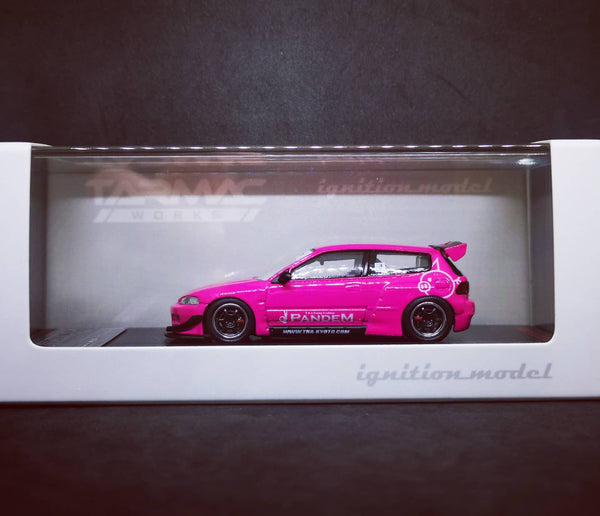 Ignition Model 1:64 Scale Honda Civic Eg6 Pandem Rocket Bunny (Pink Hong Kong Exclusive)