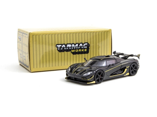Tarmac Works 1/64 Koenigsegg Agera RS Gryphon Black Carbon / Gold Accent
