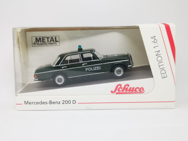 Schuco 1:64 Scale Mercedes-Benz 200D Germany Police Patrol Car