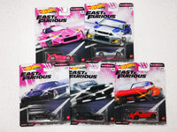 Hotwheels Car Culture Fast and Furious Set of 5 J case