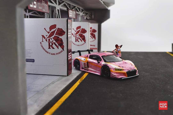 1/64 Audi R8 LMS - EVA RT Production Model Custom Type-08 with Race Queen Figure