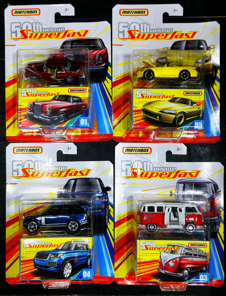 MatchBox 50th Anniversary Super Fast set of 4