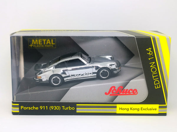 Schuco 1:64 Scale Schuco Hong Kong Exclusive Porsche 911 Turbo Chrome (930)