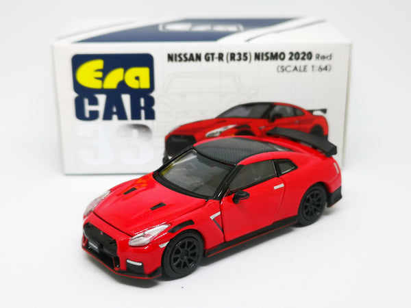 ERA Car #34 Nissan GT-R(R35) Nismo 2020 Red Scale 1:64
