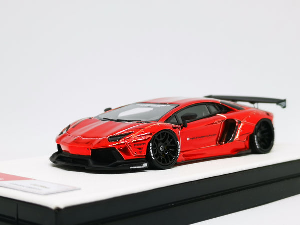 JEC LB Lamborghini Aventador Chrome Red Resin 1:64 Scale