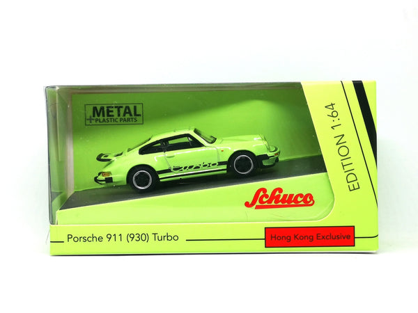 Schuco 1:64 Scale Schuco Hong Kong Exclusive Porsche 911 Turbo Apple Green (930)