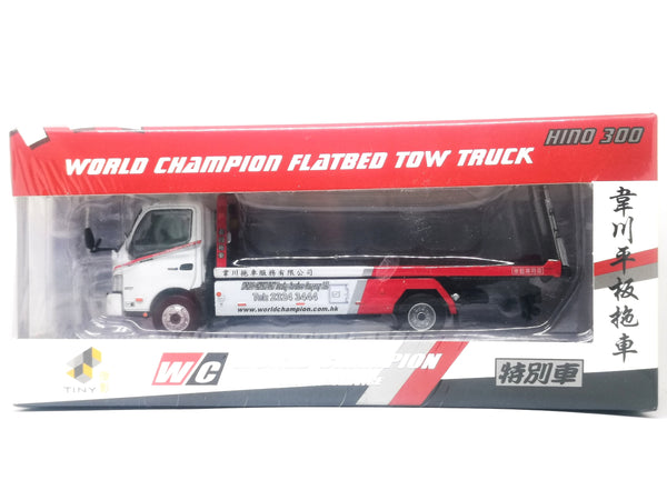 Tiny Hino 300 World Champion Flatbed Tow Truck Special Edition 1:64 Scale
