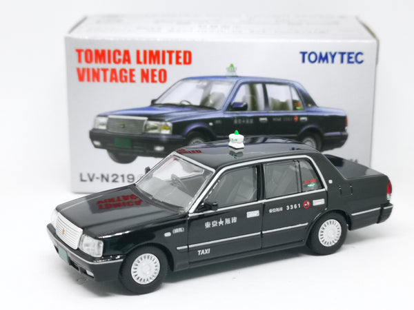 Tomica Limited Vintage Neo LV-N219a TOYOTA CROWN SEDAN Tokyo Musen Taxi Black