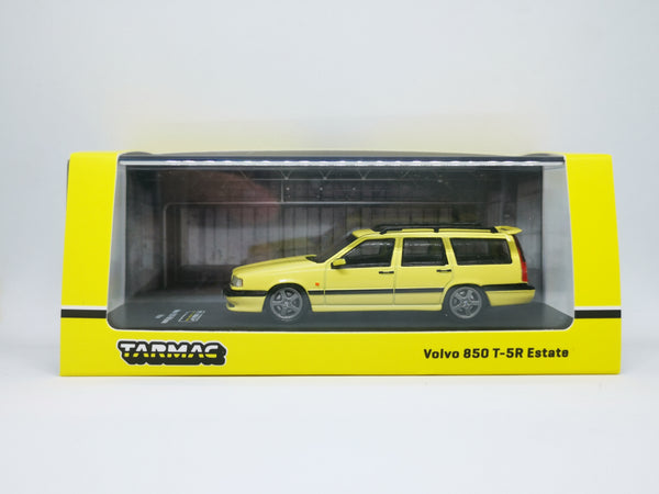 Tarmacworks Scale 1:64 Volvo 850 estate 5T-R Yellow