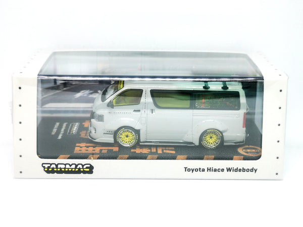 Tarmacworks Toyota Hiace Widebody Grey with roof rack 2021 Tokyo Auto Salspn Exclusive