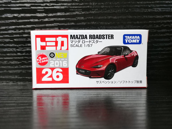 Tomica #26 Mazda MX5 ND  1:64 SCALE NEW IN Box