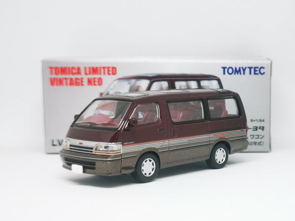 Tomica Limited Vintage Neo Toyota Hiace Wagon Super Custom 92 Model (Dark Red / Brown)