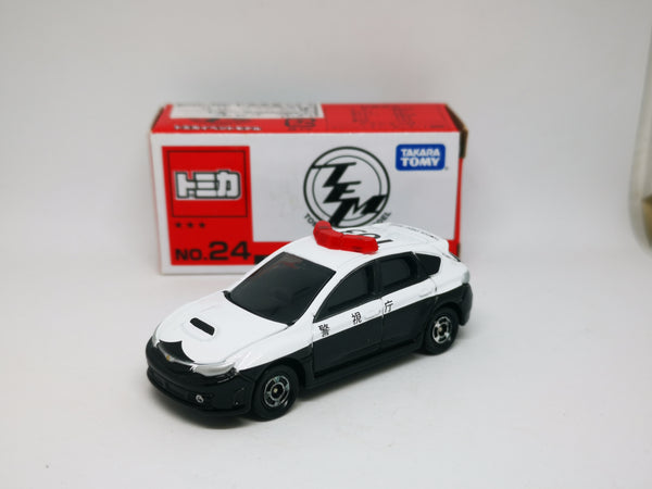 Tomica Event Model #24 Subaru WRX Sti Patrol Car