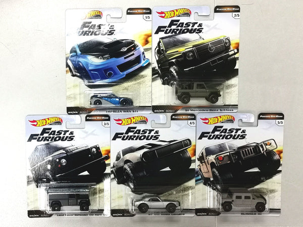 Hot wheels Car Culture Fast and Furious Furious Off Road Set of 5