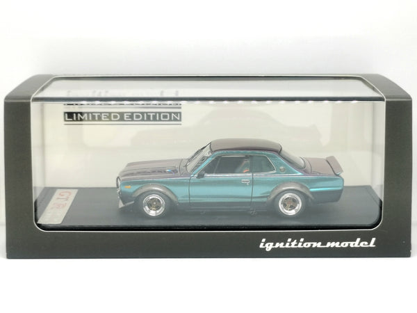 Ignition Model 1:43 Scale Nissan Skyline 2000 GT-R KPGC10 Matallic Purple/ Green