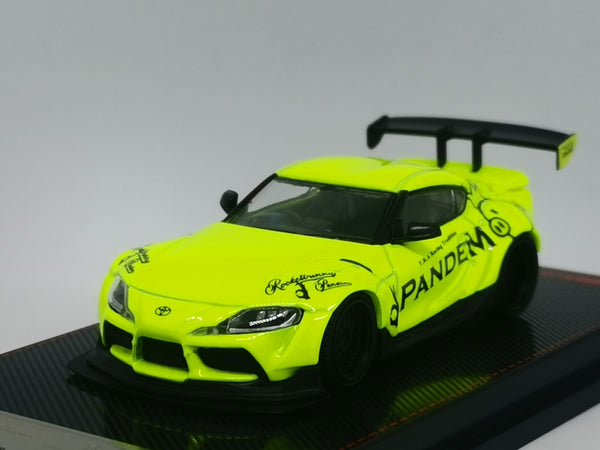 Ignition Model 1:64 Scale Pandem GR Supra (A90) Yellow Green
