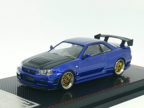 ignition model Japan Exclusive 1:64 Nissan R34 GT-R Z-tune (Blue Metallic)