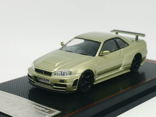 ignition model Japan Exclusive 1:64 Nissan R34 GT-R Z-tune (Green Metallic)