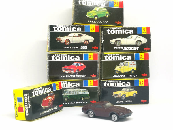 Yujin Gashapon Capsule Tomica vintage pack of 8pcs 2002 products