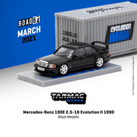 Tarmacworks Mercedes-Benz 190E 2.5-16 Evolution II 1990 Black Metallic *** With Container ***