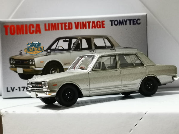 Tomica Limited Vintage LV-176a Nissan Skyline 2000GTR 1:64 SCALE  Silver