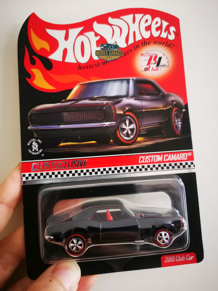 Hot Wheels RLC Custom Camaro 2019 Membership With Patch And Button