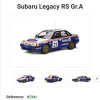 Ottomobile 1:18 Scale Subaru Legacy RS Gr.A