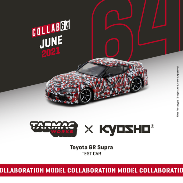 Pre Order Tarmacworks 1:64 Scale Toyota GR Supra  Test Car *** Collaboration with Kyosho ***