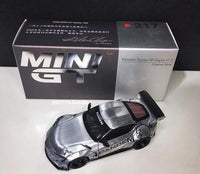 Mini GT Exclusive 1:64 Scale Pandem GR Supra (A90) Polished Silver